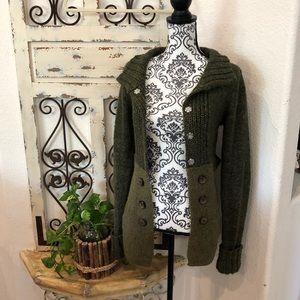 BKE green soft sweater